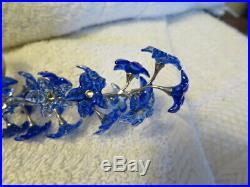 SWAROVSKI Crystal Paradise Flowers DINDORI Saphire