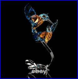 SWAROVSKI Figurine Crystal Paradise Birds Large Kingfisher Couple 5136835