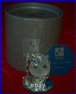 SWAROVSKI LARGE OWL Old Square Logo First Edition 1979! Original Box +COA