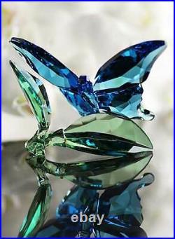SWAROVSKI Retired 2016 Butterfly on Leaves-5136834-NEW in Box-MINT-MIB