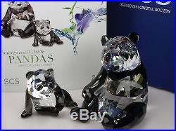 SWAROVSKI SCS Annual Edition 2008 Pandas SIGNED- 900918 NEW IN BOX