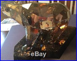 Swarovski Soulmates Golden / Amber Bear 1037053 Retired