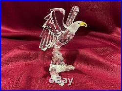 SWAROVSKI Silver Crystal Bald Eagle 7670 A NR 000 002 New with Box and Cert