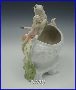 Schneider Grafenthal Germany Bisque Nymph And Cherub Jardiniere Vase C. 1876