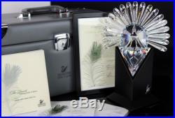 Signed Swarovski Austira PEACOCK Limited Edition 1998 Crystal Figurine w BOX MBH