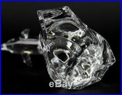 Signed Swarovski Austria 8 MAXI Dolphin 7644 NR 000 004 Crystal Figurine NR JWD