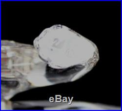 Signed Swarovski Austria African Leopard 217093 Silver Crystal Figurine NR MBH