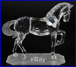Signed Swarovski Austria Arabian Stallion Horse 221609 Crystal Figurine NR JWD