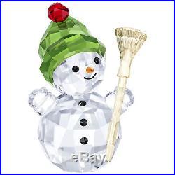 Snowman With Broom Stick Christmas Holiday 2018 Swarovski Crystal 5393460