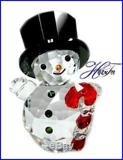 Snowman With Candy Cane 2019 Holiday Xmas Figurine Swarovski Crystal 5464886