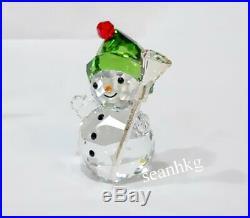 Snowman with Broom Stick, Christmas Crystal Authentic MIB 5393460 Swarovski
