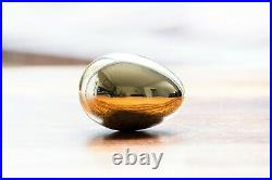 Solid Brass Egg For Luck and Wealth Hand Made in England