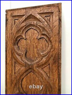 Stunning Gothic Church panel in wood -carved panel in oak (3)