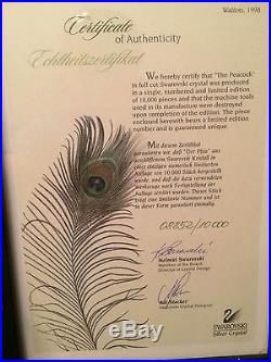 SwarovskiLIMITED EDITION PEACOCK#8852/10000Val $7,000Mint n Box MAKE OFFER