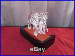 Swarovski 1993 Inspiration Africa Elephant Figurine With Stand, Box, & COA