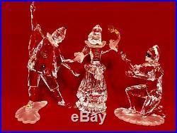 Swarovski 1999 2000 2001 scs masquerade PIERROT COLUMBINE HARLEQUIN set