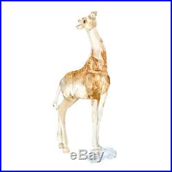Swarovski 2018 Giraffe And Baby Giraffe In Box With Coa New