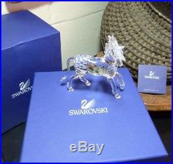 Swarovski 4 3/8 Unicorn 630119 Crystal Figurine with Box & COA 1 of 2 Pristine