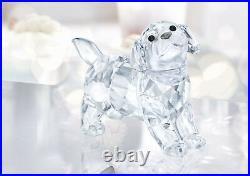 Swarovski #5400141 Labrador Puppy Standing Brand Nib Crystal Dog Very Cute F/sh