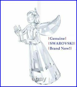 Swarovski ANGEL 2017 Crystal Christmas Candle Annual Ornament NEW in Gift Box