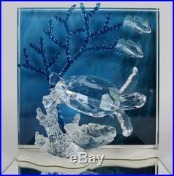 Swarovski Austria Eternity Turtles Wonders Of The Sea 2006 Crystal Plaque JWD