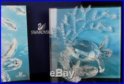 Swarovski Austria Eternity Turtles Wonders Of The Sea 2006 Crystal Plaque NR MBH