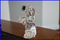 Swarovski Austrian Crystal 1992 Lt. Ed. Care For Me Whales Figurine Box