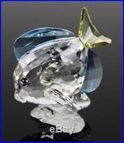 Swarovski Austrian Crystal Blue Tang Tropical Fish Retired Art Glass Sculpture