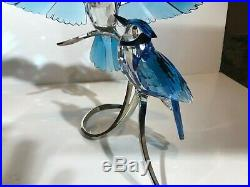 Swarovski BLUE JAYS Paradise Birds Figurine #1176149 NIB