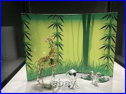 Swarovski Bird Lion giraffe Wild Life Crystal Display