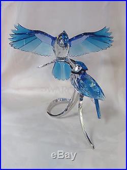 Swarovski Blue Jays Brand New In Box #1176149 Large Bluebirds Love Save$ Free Sh