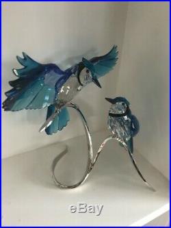 Swarovski Blue Jays Crystal Bird Figurines 1176149