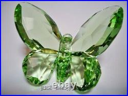 Swarovski Butterfly Light Peridot 855773 Nib Coa