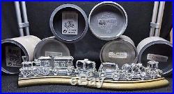 Swarovski Complete 6 PIECE LOCOMOTIVE TRAIN SET With TRACKS