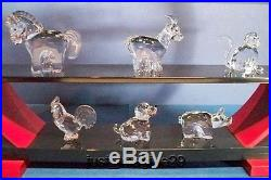 Swarovski Complete Zodiac Miniature Series 12 Piece Set + Display Retired Mib