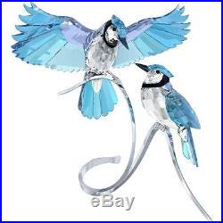 Swarovski Crystal 1176149 PAIR OF BLUE JAYS Large Figure Authentic New In Box