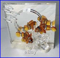 Swarovski Crystal 2005 Harmony Wonders Of The Sea COLORED CLOWN FISH