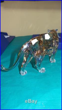 Swarovski Crystal 2010 Scs Annual Edition Golden Tiger Figurine Rare 100314