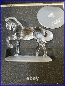 Swarovski Crystal Arabian Stallion Horse Figurine 221609 Martin Zendron