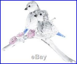 Swarovski Crystal BLUE TITS BIRD COUPLE 5004727 MIB