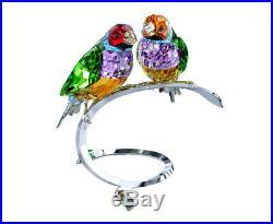 Swarovski Crystal Birds Figurine GOULDIAN FINCHES PERIDOT 2012 -1141675 New