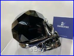 Swarovski Crystal Black Crystal N Hematite Large Skull Rare 1194209 MIB WithCOA