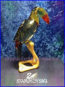 Swarovski Crystal Black Diamond Toucan 850600. Retired 2009. MIB+COA