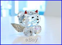 Swarovski Crystal Bo Bear Naught But Nice Angel Wings 1143382 Brand New in Box