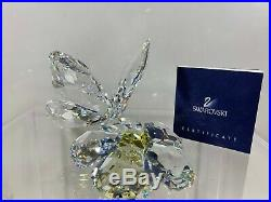 Swarovski Crystal Butterfly On Yellow Flower 9100 000 027 / 840190 MIB WithCOA