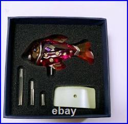 Swarovski Crystal Camaret Fuschia Rain Paradise Fish 626205 Mint In Box W Coa