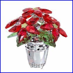 Swarovski Crystal Christmas Flower Figurine POINSETTIA LARGE #1139997 New