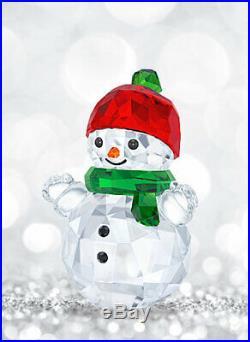 Swarovski Crystal Christmas Snowman with Red Hat BNIB 5288205