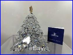 20da907a23 Swarovski Crystal Christmas Tree Shining Star Golden Large 1139998 MIB  WithCOA