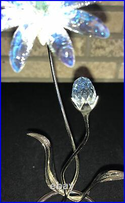 Swarovski Crystal Dellaria Aquamarine Paradise Flower #945872 Retired HTF